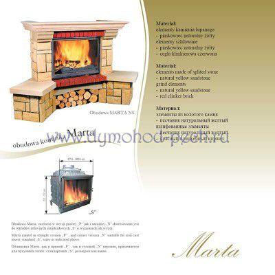 Каминная облицовка Jabo Marmi Marta схема