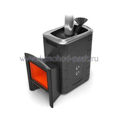 Печь для бани Гейзер 2014 Витра Inox антрацит с теплообменником