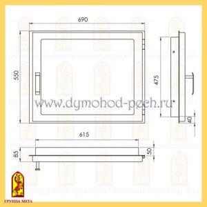Дверь каминная от группы Мета ДК690-1С схема