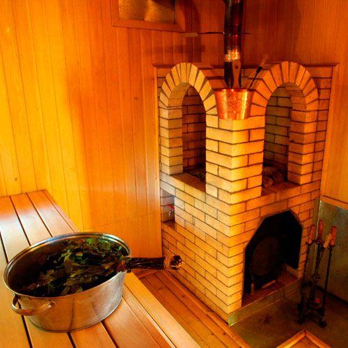 Дровяная печь для бани